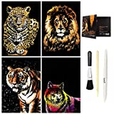 C-pop Scratch Art, Scratch Art Paper DIY Night View Scratchboard for Adult and Kids, with Stylus/Black...