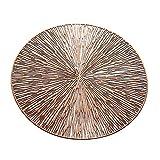 Tovagliette 4 / 6pcs PVC Hollow Round Placemat Impermeabile antiscivolo Tappeto da pranzo Tappetini da pranzo Isolamento termico Coaster Coaster Tovagliette Lavabili