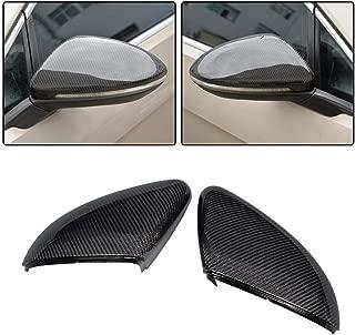 JC SPORTLINE fits Volkswagen VW Golf 7 MK7 MK7.5 GTI R 2014-2019 Replacement Carbon Fiber Mirror Cover Cap Rearview Shell