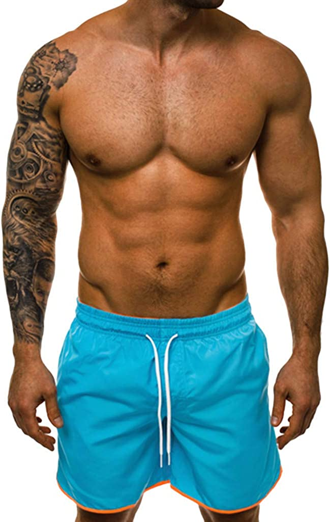 DIOMOR Classic 7 Inch Inseam Casual Athletic Shorts for Men Outdoor Beach Drawstring Swim Trunks Gym Work Out Pants