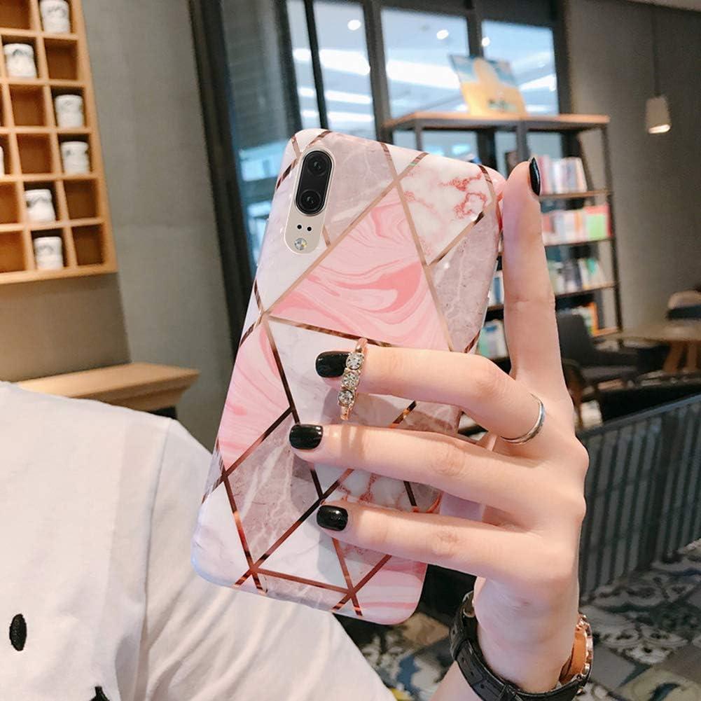 Uposao Kompatibel mit Huawei P20 Handyh/ülle Glitzer Handy Ring St/änder Halter Schutzh/ülle Gl/änzend Bling Silikon TPU H/ülle Case Anti-Scratch Sto/ßfest Soft Handytasche,Gr/ün Marmor