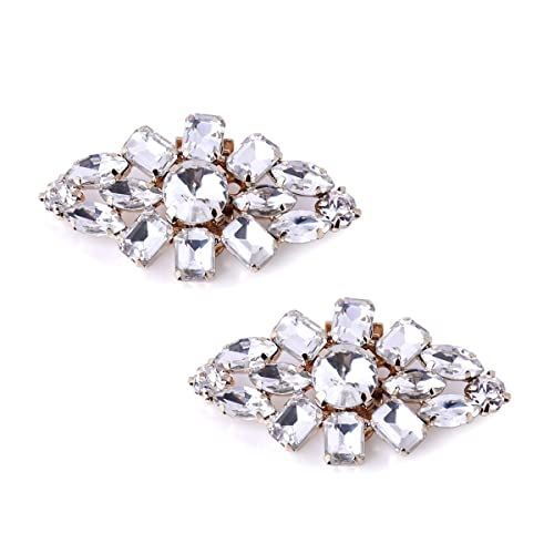 ElegantPark Fashion Decorative Rhinestones Shoes Clutch Dress Hat Shoe  Clips 2 Pcs 073655c32455