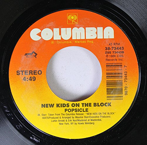 NEW KIDS ON THE BLOCK 45 RPM Popsicle / Let