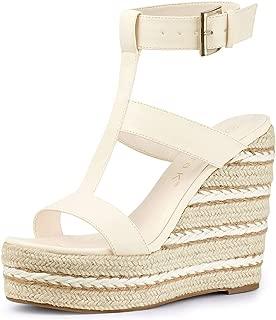 Women's Espadrille Strappy Platform Wedges Sandals