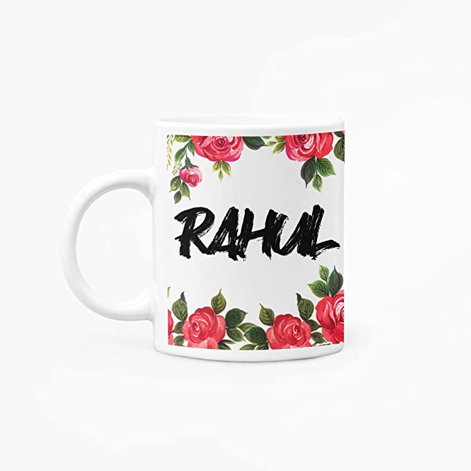 RINKON RAHUL Mug Flower Border Name Mug
