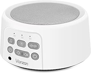 White Noise Machine - Sound Machine with Baby for Sleeping & Relaxation - 7 High Fidelity Nature Sounds - Portable Sleep Sound Therapy for Home, Office or Travel - Suitable for Kids and Adults