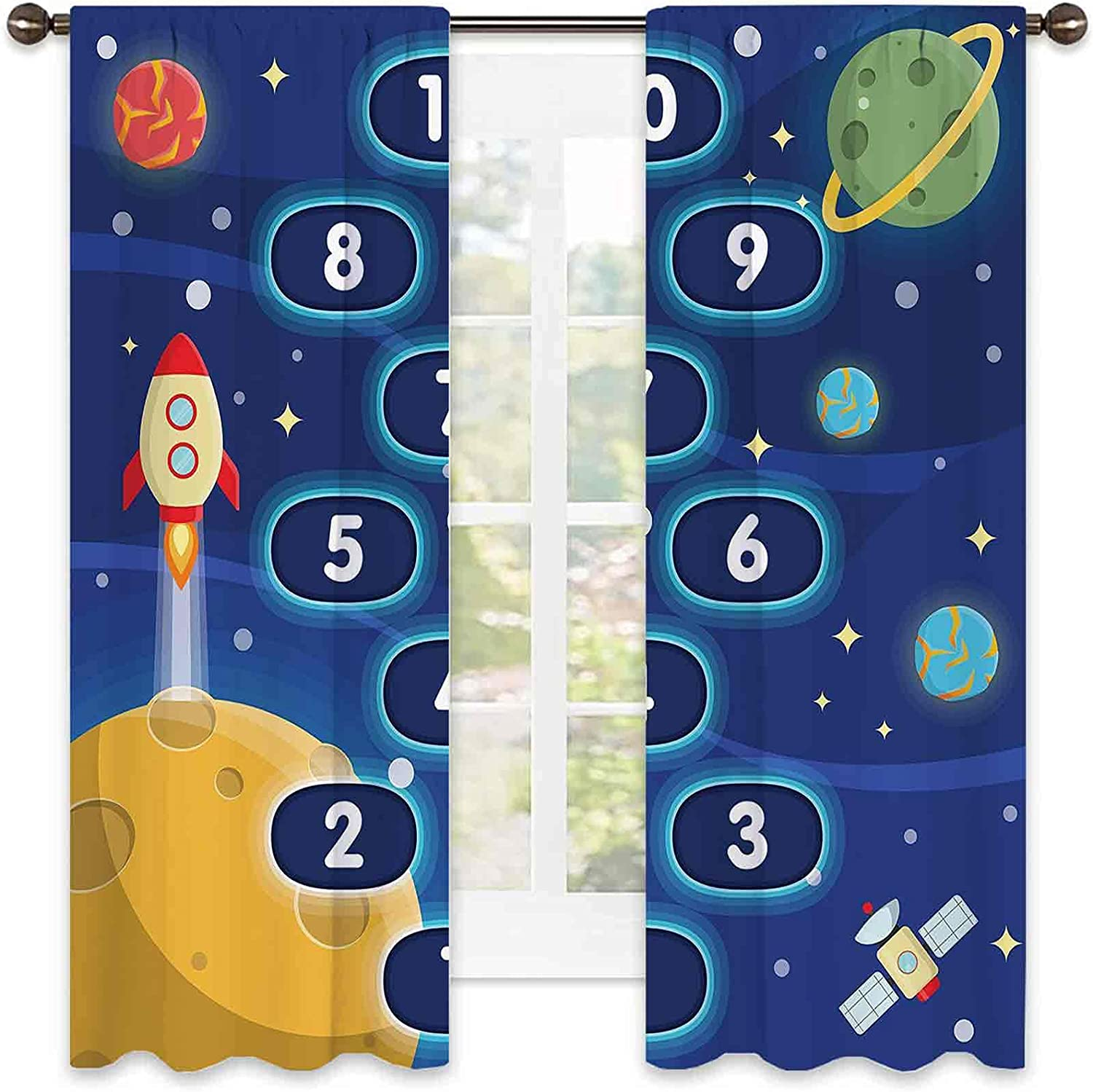 Kids Activity Heat Insulation Bombing free shipping We OFFer at cheap prices Children Hopscot Curtain
