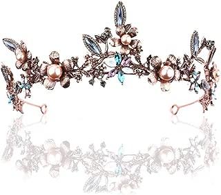 Barogirl Bridal Wedding Queen Crowns and Tiaras Rhinestones Vintage Pageant Crown Headband for Women (Half Crown)