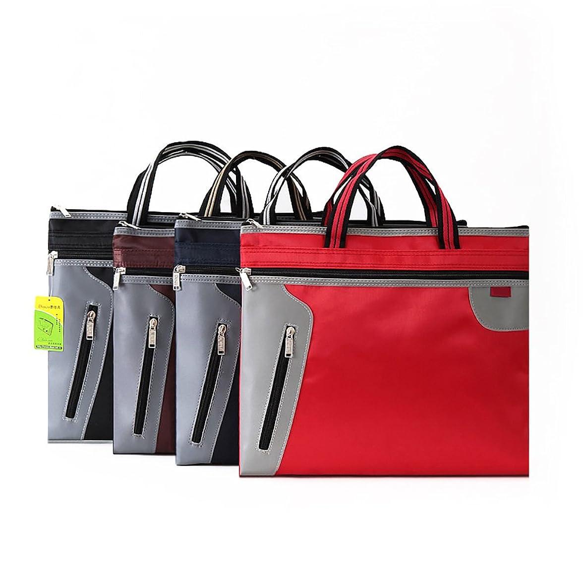追い払う再生シャツA4 ビジネスバッグ男女兼用ファイルケース 書類の整理と持ち運びに便利です ダークブルー