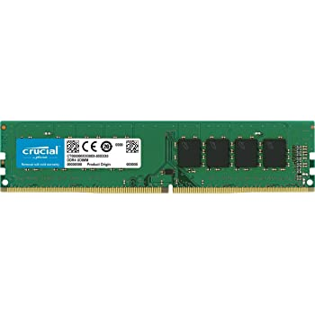 Crucial CT8G4DFS824A 8 GB (DDR4, 2400 MT/s, PC4-19200, CL17, Single Rank x8, DIMM, 288-Pin) Memory