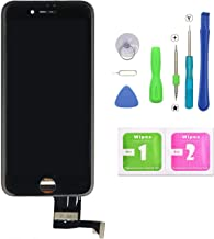 QTlier iPhone 7 Screen Replacement,LCD Display and Touch Screen Digitizer Replacement Full Assembly with Repair Tool Kit(Black, 4.7Inch, for iPhone 7)