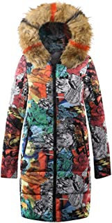Womens Winter Long Down Cotton Ladies Parka Hooded Coat Quilted Jacket Outwear