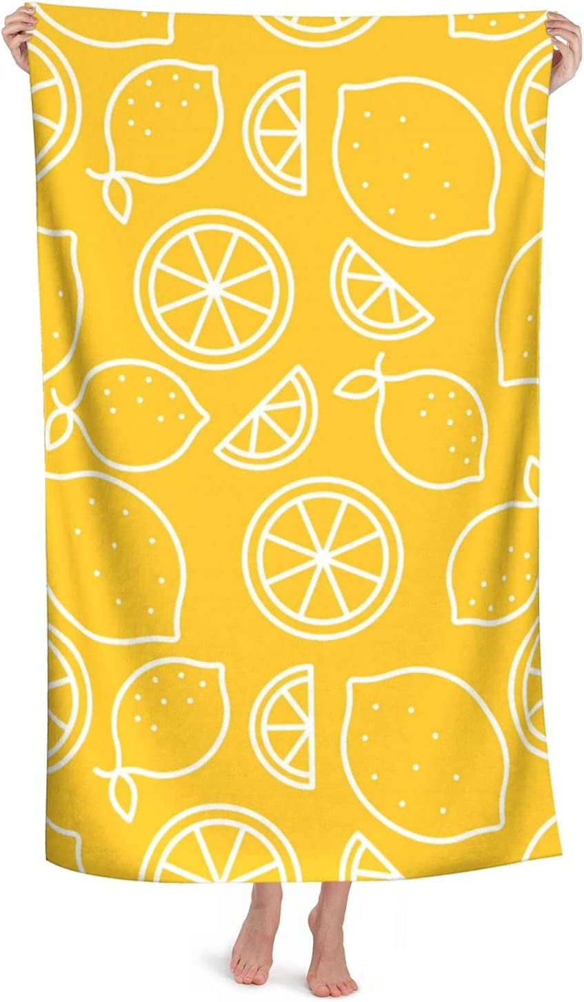 Midetoy High material Beach Towel Lemon Tropical Dry Quick Fruit T Max 41% OFF