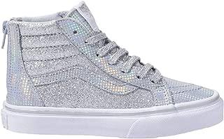 Kids Sk8-Hi Zip (Little Kid/Big Kid) Metallic Glitter Girl's Sneaker