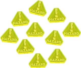 LITKO Gaslands Miniatures Game Hazard Tokens, Fluorescent Yellow (10)