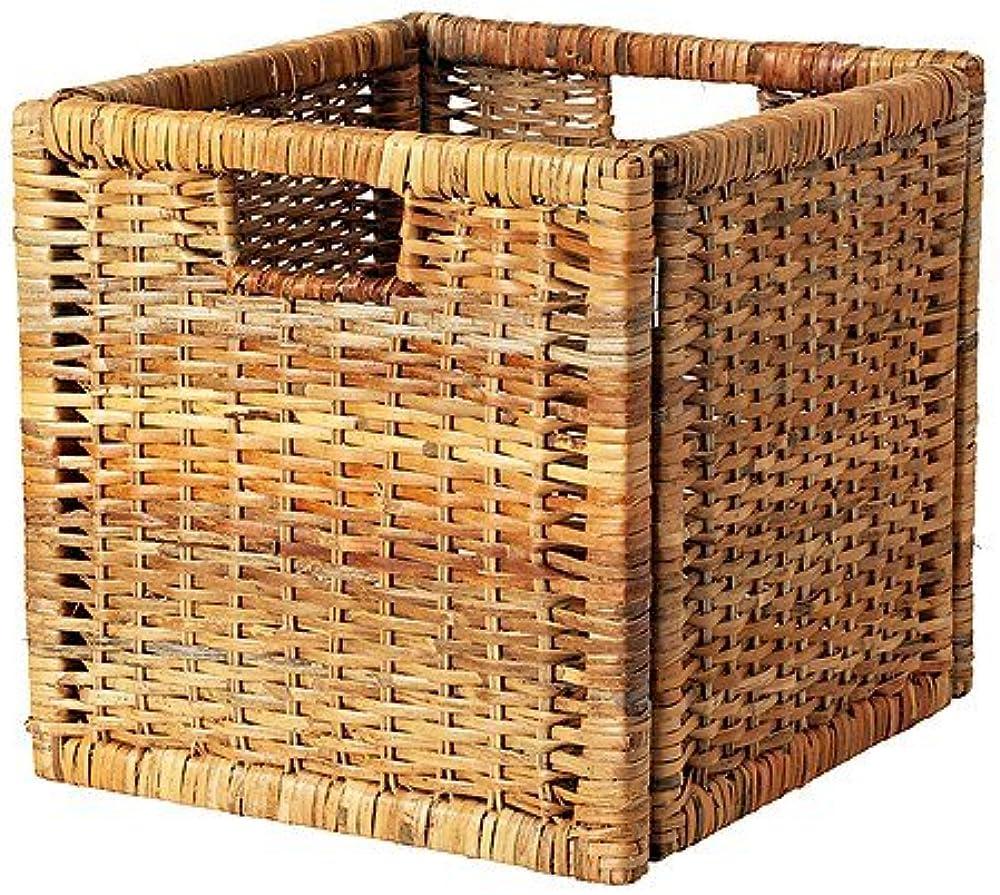 Ikea branäs, cestino,cesto in materiale rattan 5054186087633