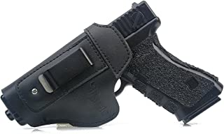 TOFEIC Concealed Carry Leather IWB AIWB Holster Inside The Waistband for Glock 17 19 22 23 26 27 32 33/S&W M&P Shield/Springfield XD XDS XDM/Sig Sauer and Similar Handgun