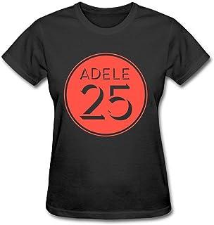 Tee Times Women's Adele 25 Album Logo Cover Poster Black T shirt