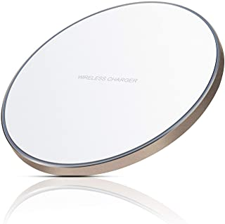 Antye Wireless Charger - Ultra Slim Inductive Wireless Charging Pad Stand with Anti-Slip Rubber Aluminum Base for iPhone X 8 8 Plus, Samsung Galaxy S9 S9+ S8 Plus S6 S7 Edge Note 8