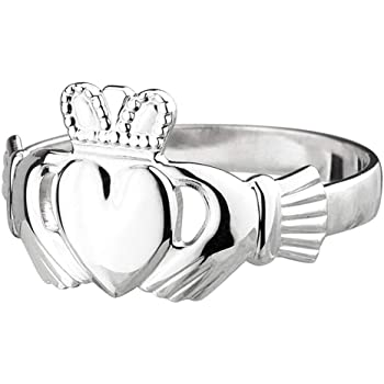 Claddagh Ring Sterling Silver Made in Ireland Twist On the Traditional Claddagh With a Braided Band Made By the Artisans At Solvar in Co Dublin