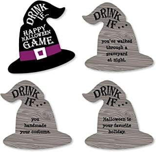 Big Dot of Happiness Drink If Game - Happy Halloween - Witch Party Game - 24 Count