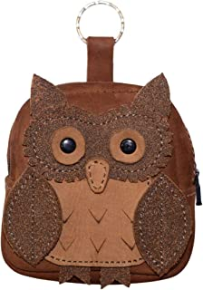 Hide & Drink, Owl Mini Backpack Leather Coin Purse/Wallet/Case/Cable Pouch/SD Card Holder/USB Organizer, Handmade Includes 101 Year Warranty :: Swayze Suede