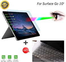 Anti Blue Light Screen Protector with Keyboard Cover for Surface Go 2018 Released Laptop Anti Blue Light & Glare Screen Protector Filter Film Eye Protection Blocking Screen Protector Computer Cover