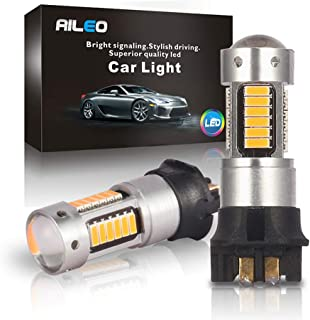 Canbus Error Free PWY24W PW24W LED Bulbs Amber Yellow Extremely Bright 30-SMD Turn signal Lights Daytime Running Lights For BMW F30 3 Series Volkswagen MK7 Golf Audi A3 (PW24W Yellow)