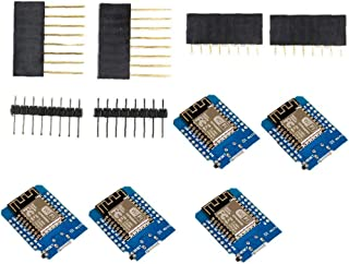 Junta de Desarrollo ESP8266 Internet Inalámbrico Mini Escudo D1 portátil para la programación de 5PCS