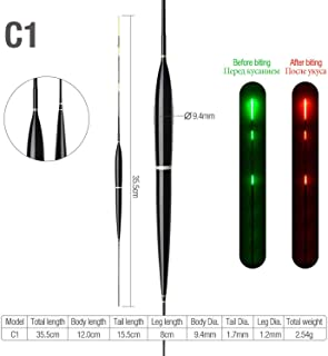 Daydreaming-shop Luminous Smart Color Change Fishing Float High Sensitivity Alarm Fish Bite Electronic Buoy Fish Floating Bobber Stick