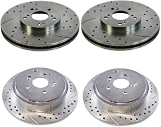 Prime Choice Auto Parts PR41277PR41320 Set of 4 Performance Drilled and Slotted Brake Rotors