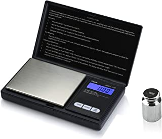 American Weigh Scale AWS-100-CAL Digital Kitchen Pocket Scale, Small, Black (AWS-100-CAL)
