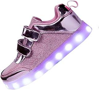 2f239634 DoGeek Zapatos Led Niñas Deortivos para 7 Color USB Carga LED Luz Glow USB  Flashing Zapatillas