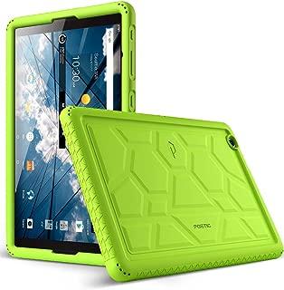 at&T Primetime Tablet Case, Poetic TurtleSkin Series [Corner/Bumper Protection][Grip][Bottom Air Vents] Protective Silicone Case for ZTE ATT Primetime Tablet Green