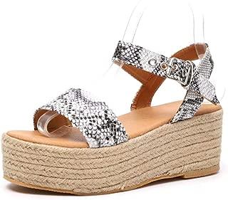 Womens Casual Open Toe Platform Wedges Sandals Slingback Ankle Strap Espadrille Sandals