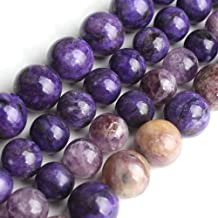 18 Pcs 105837 10MM Charoite Beads Grade AAA Genuine Natural Round Gemstone Loose Beads