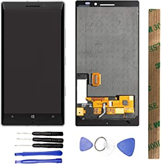 JayTong LCD Display & Replacement Touch Screen Digitizer Assembly with Free Tools for Nokia Lumia 930 white