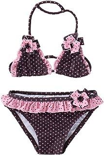 8f91eb04b6fd1 Maillots de Bain 2 Pièces Enfants Fille Broderie Gland Bikinis Âge 2-16 Ans