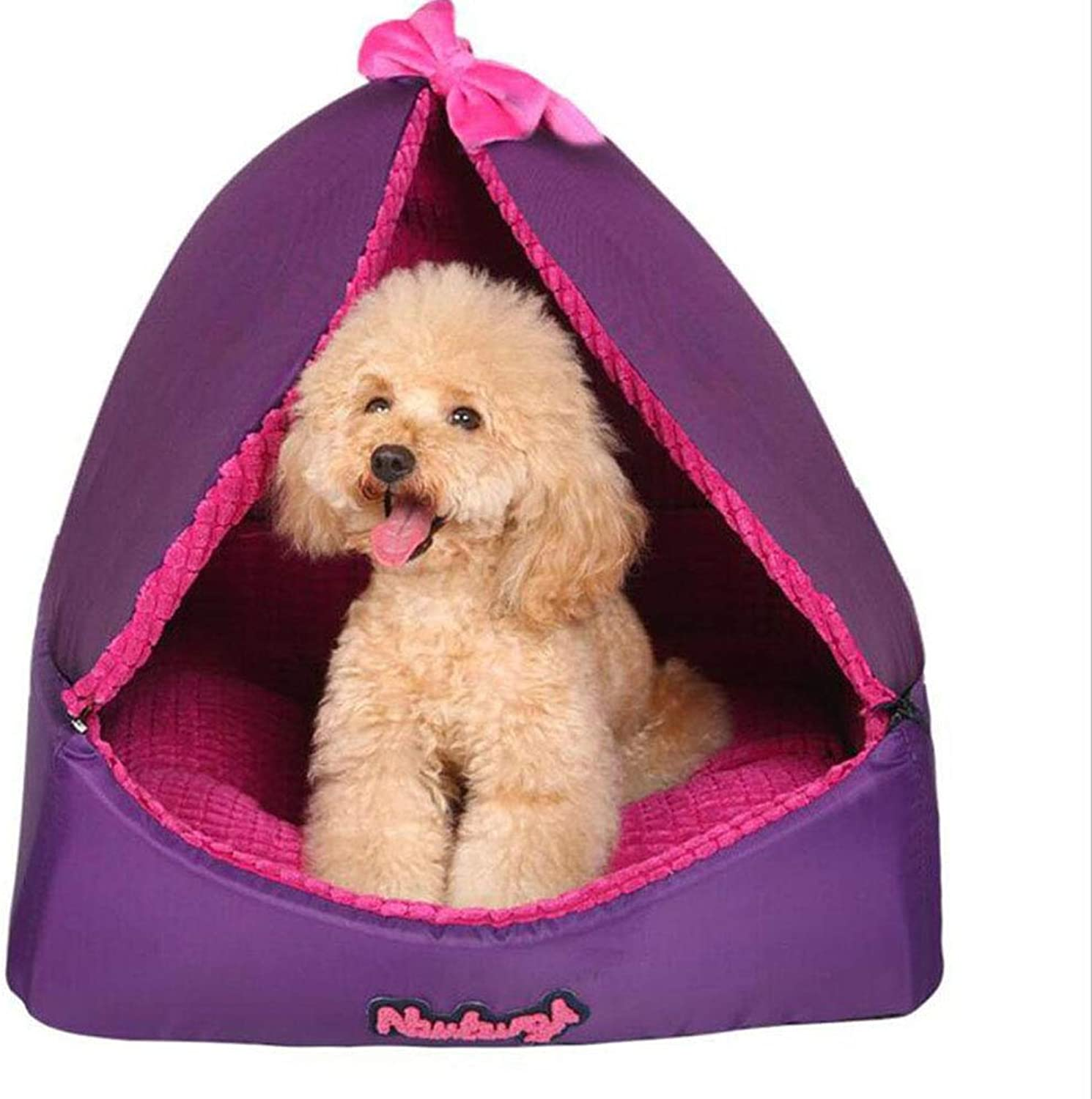 H.ZHOU Dogs and Cats Bed Liners & Mats Dog House Removable Washable Cat House Pet Supplies Small Dogs Seasons Pet House (Size   S)