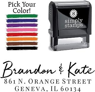 Custom Return Address Stamp, Brandon Personalized Self-Inking Address Stamp