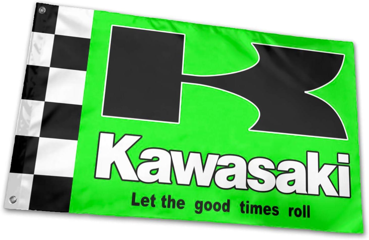 KAWASAKI FLAG BANNER 3/'X5/' Fast Free Shipping