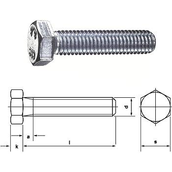 Eisenwaren2000 rostfrei ISO 4017 Sechskant Schrauben Sechskantschrauben mit Gewinde bis Kopf M10 x 65 mm Vollgewinde Edelstahl A2 V2A - DIN 933 Gewindeschrauben 30 St/ück