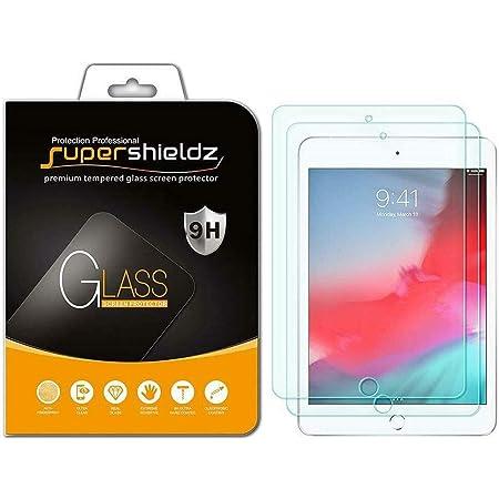 (2 Pack) Supershieldz Designed for Apple iPad Mini 5 (2019) and iPad Mini 4 Tempered Glass Screen Protector, Anti Scratch, Bubble Free