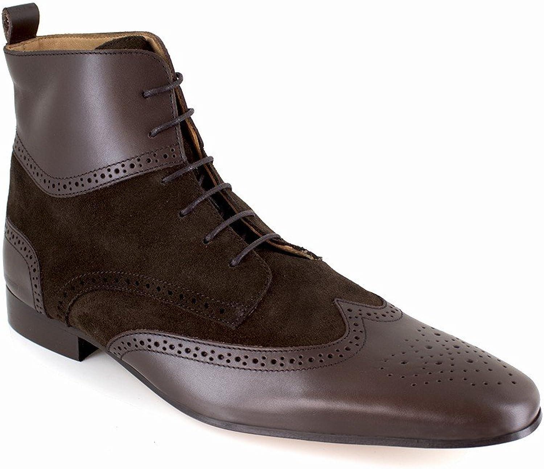 J.Bradford Low Boots Brown Leather JB-PINTAC