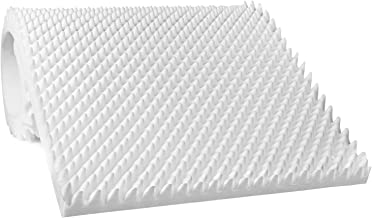 """Egg Crate Mattress Topper, Ventilated, Convoluted Foam for Pressure Sores and Pain Relief, Hypoallergenic, Medical Grade Urethane for Therapeutic Support and Recovery, Hospital Bed Twin (79"""" x 35"""")"""