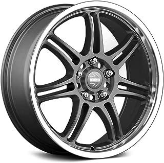 Momo RPM Evo Custom Wheel - Matte Anthracite with Polished Lip Rims - 17