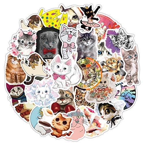 AMOYE Set Von 80 Süße Katze Aufkleber Premium Qualität - Vinyls Stickers Nicht Vulgär – Fashion, Stil, Bombe, Graffiti - Anpassung Laptop, Gepäck, Motorrad, Fahrrad, Skateboard Stickers,1.5-3.2in