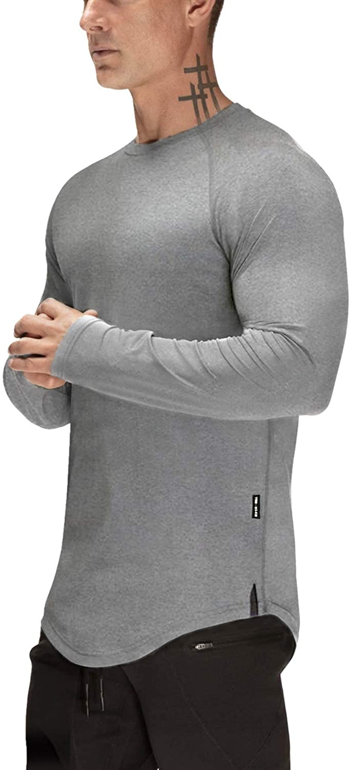 Mens Gym Workout Slim Fit Short Sleeve T-Shirt Cotton Performance Athletic Shirts Running Fitness Tee at  Men's Clothing store