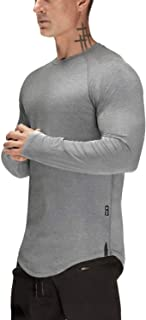 Mens Gym Workout Slim Fit Short Sleeve T-Shirt Cotton Performance Athletic Shirts Running Fitness Tee