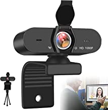 IPXOZO 1080P Webcam,USB Webcam with Microphone PC Web Camera for Computer & Desktop,HD Web Cam Video Camera with Privacy C...